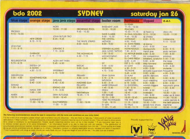Date and time com in Sydney